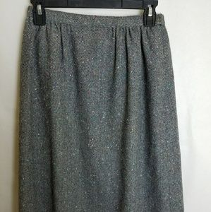 Vintage Pendleton 100% Virgin Wool Gray 8 Skirt